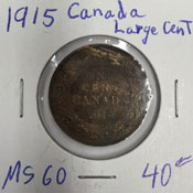 1915 Canada large cent
