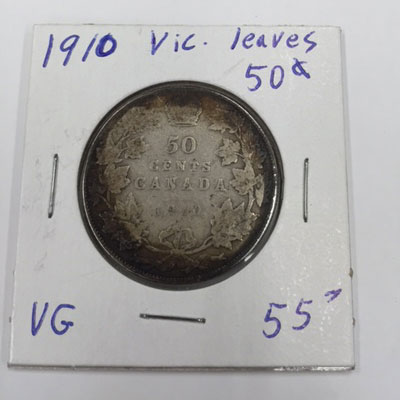 1910 Vic leaves 50 cent