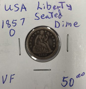 1857 Liberty Seated dime