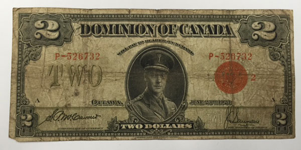 Photo 7 1923 canada two dollar bill