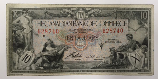 Photo 9 1935 canada ten dollar bill