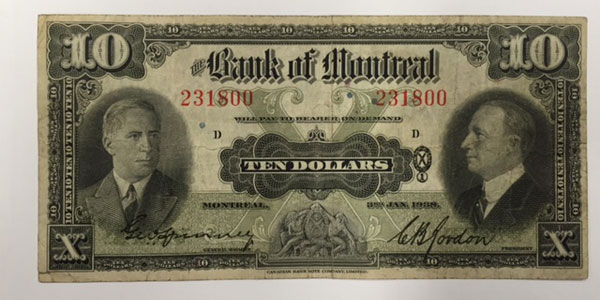 photo 13 1938 canada ten dollar bill