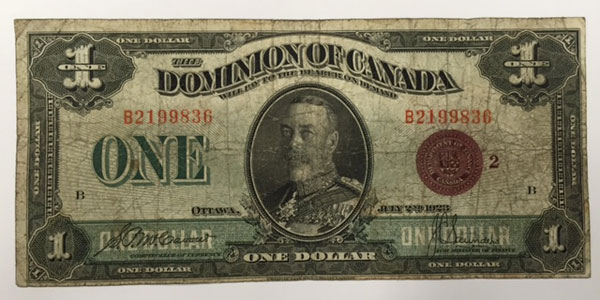 photo 6 1923 canada one dollar bill
